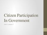 Unit 2: Lesson 8: Citizen Participation (Autocratic, Oliga