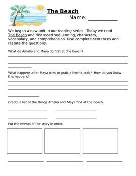 Unit 2 Lesson 8 1st Grade Journeys Comprehension Questions