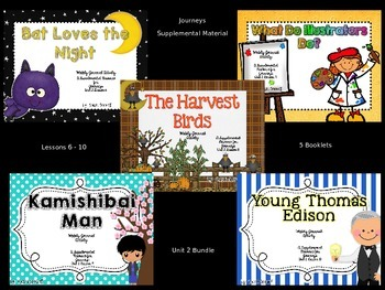 Unit 2 Lessons 6-10 Journal Booklet 3rd Grade Journeys