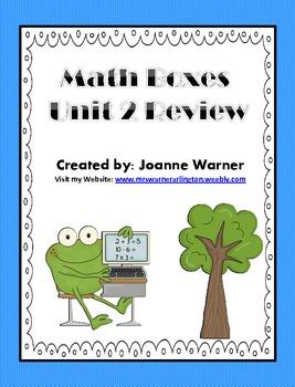 Unit 2 Math Boxes Data Analysis 4th Grade