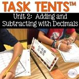 Task Tents™ - Math Edition {5th Grade Unit 2}
