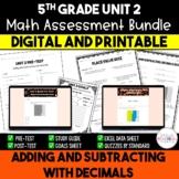 Adding & Subtracting Decimals Math Resource Bundle *5th Grade* Decimals {Unit 2}