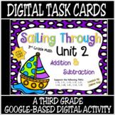 Unit 2 Math TEKS: 3.4A, 3.4B, 3.5A, 3.7B / Distance Learning Digital Task Cards