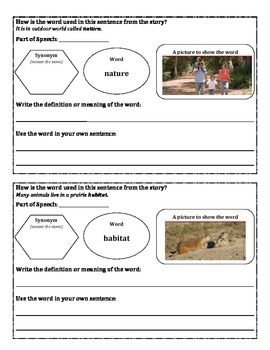 Unit 2- 2nd Grade McGrawHill Wonders Vocabulary Maps