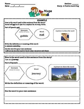 Unit 2- 2nd Grade McGrawHill Wonders Vocabulary Maps