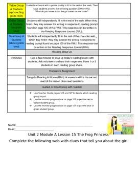 Unit 2 Module A Lesson 15 ReadyGEN Grade 3 The Frog Princess
