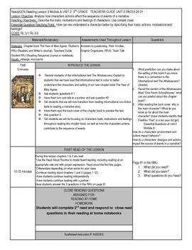 Unit 2 Module A Lesson 3 ReadyGEN Grade 3 The Year of Miss Agnes