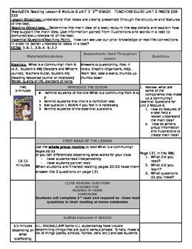 Unit 2 Module B Lesson 8 Grade 3  ReadyGEN What is a Commu