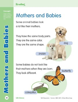 Unit 2: Mothers and Babies (Skill Sharpeners: Science)