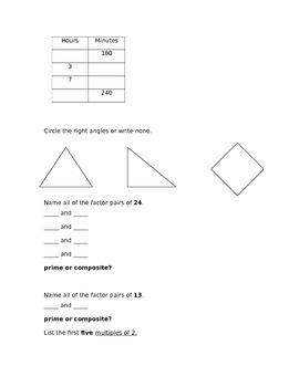 Unit 2 Multiplication and Geometry