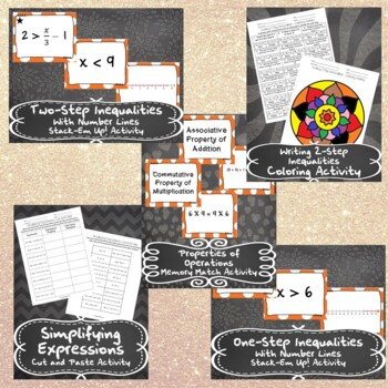 Unit 2 - One-Variable Equations and Inequalities-Activities-7th Grade Math TEKS