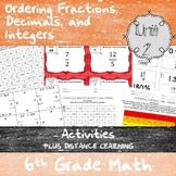 Unit 2 - Ordering Rational Numbers-Activities-6th Grade Math TEKS