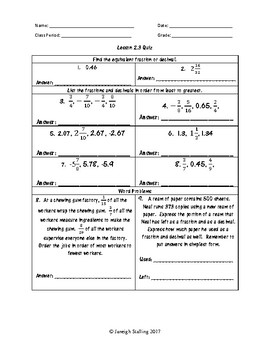 unit 2 ordering rational numbers worksheets 6th grade math teks - Rational Numbers Worksheet