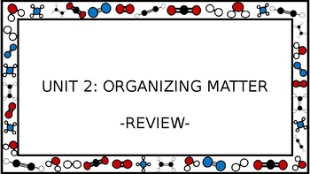 Unit 2 Organizing Matter Wall Walk Review Game
