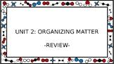 Unit 2 Organizing Matter Wall Walk Review Game