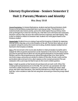 Unit 2 Parents and Mentors and Identity FULL UNIT