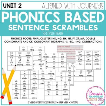 Phonics Based Sentence Scrambles Unit 2