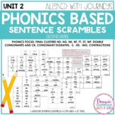 Unit 2 Phonics Based Sentence Scrambles