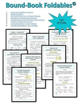 PreCalculus Polynomial Power and Rational Functions Bundle