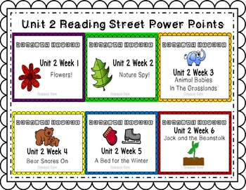 Unit 2 Power Point Reading Street Bundle! Week 1 - 6