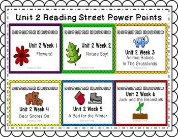 Unit 2 Power Point Reading Street Bundle! Week 1 - 6