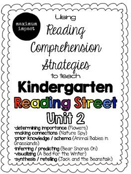 Unit 2 Reading Comprehension Strategies to Teach Kindergarten Reading Street