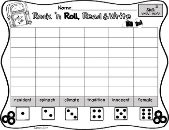 Unit 2 Reading Street 2013 3rd Grade Common Core Roll, Read, and Write Centers