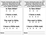 Unit 2 Reading Street Sentence Practice for Parents