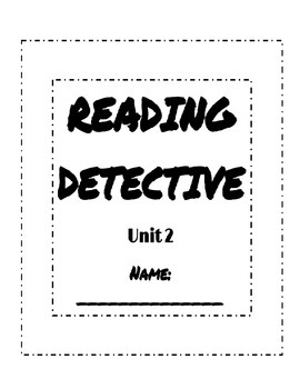 Unit 2 Reading Street Sleuth Reading Detective Booklet