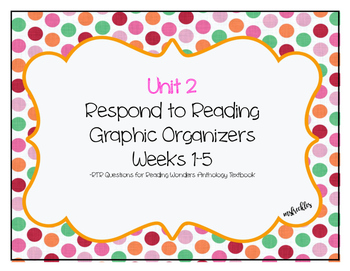 Unit 2 Reading Wonders Respond to Reading Graphic Organizer