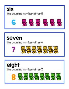 Unit 2 Ready Math Vocabulary Cards for Kindergarten