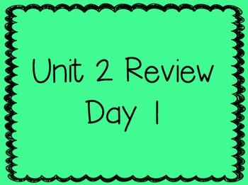 Unit 2 Review Week 2nd Grade Reading Street Powerpoints