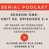 Unit 2: Serial Podcast Lesson Plans & Printable Worksheets