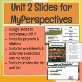 6th Grade Unit 2 Slides for MyPerspectives Curriculum