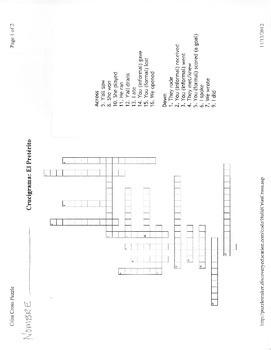 Unit 2: Spanish 2: Avancemos - Preterite Crossword Puzzle