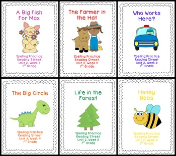 Unit 2 Spelling Bundle (Reading Street 1st Grade)