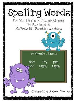 Unit 2 Spelling Words ~ McGraw-Hill Reading Wonders