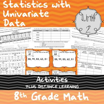 Unit 2 - Statistics with Univariate Data - Activities - 8th Grade Math TEKS
