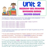 "Unit 2 Study Guide ""Pack"" for McGraw Hill Reading Series-"