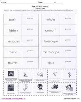 Unit 2 Vocab. Sheets for Scott Foresman® Reading 2000 series