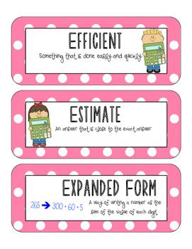 Unit 2 Vocabulary, Everyday Math Fifth Grade
