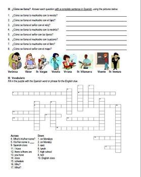 La Escuela Vocabulary Practice Packet