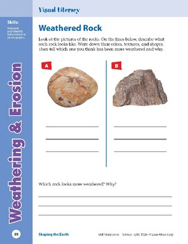 Unit 2: Weathering & Erosion: Concepts (Skill Sharpeners: Science)