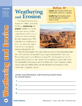 Unit 2: Weathering and Erosion: Concepts (Skill Sharpeners:Science)