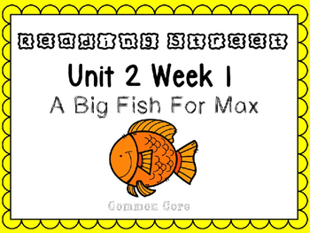 Unit 2 Week 1. Reading Street. First Grade. Power Point. A Big Fish For Max.