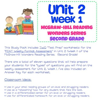 Unit 2, Week 1 Study Guide for Wonders Second Grade