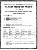 Unit 2 Week 2 Wonders 4th Grade Newsletter