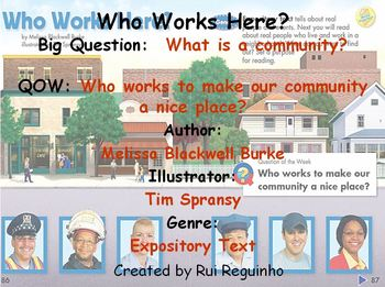 Unit 2 Week 3 - Who Works Here - Lesson Bundle (Versions 2013, 2011, and 2008)