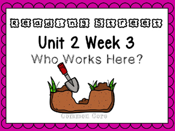 Unit 2 Week 3 Who Works Here? Reading Street Power Point. First Grade