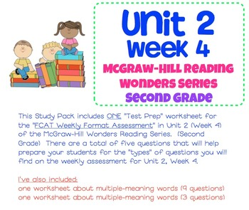 Unit 2, Week 4 Study Guide for Wonders Second Grade